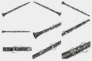 Clarinet musical instrument, set