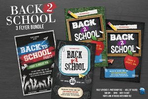 Back 2 School Flyer Bundle