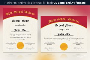 Hight School Diploma Template