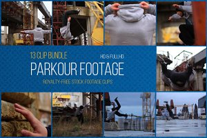 Parkour: 13 Clip Footage Bundle