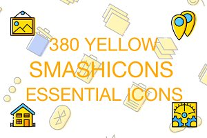 380 Essential Icons - Yellow Style