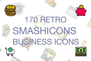 170 - Business Icons - Retro Style