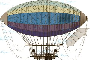 Fantastic retro dirigible