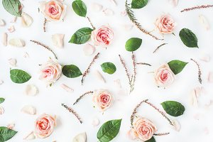 Floral pattern with roses