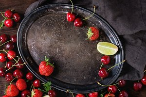 Food background with berries