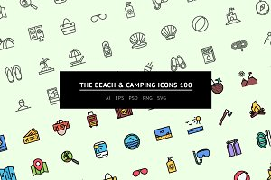 The Beach & Camping Icons 100