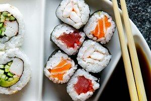 background for sushi restaurant.