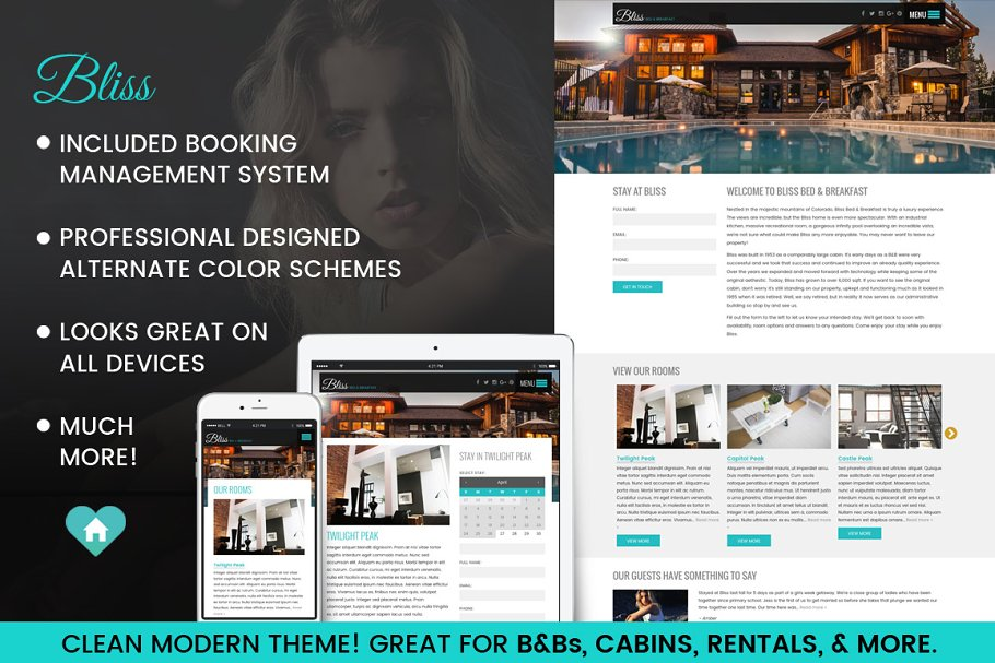 BnB, Cabin, Rental Wordpress Theme ~ WordPress Business