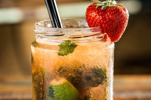 Strawberry mohito