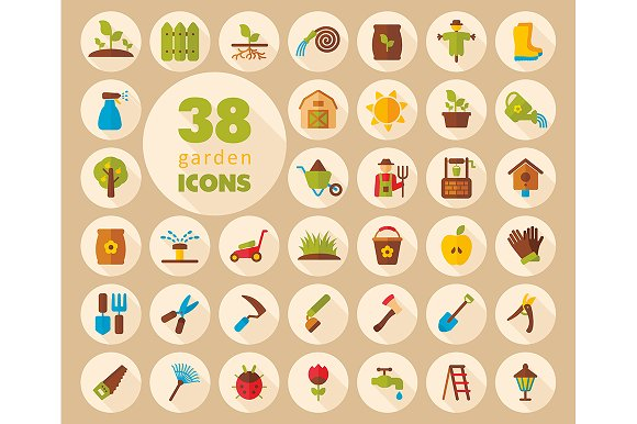 Garden Farm flat vector icon