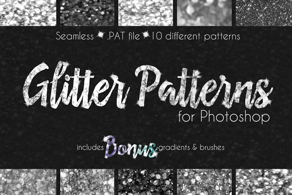 Palettes: Transfuchsian - Glitter Texture Patterns Photoshop
