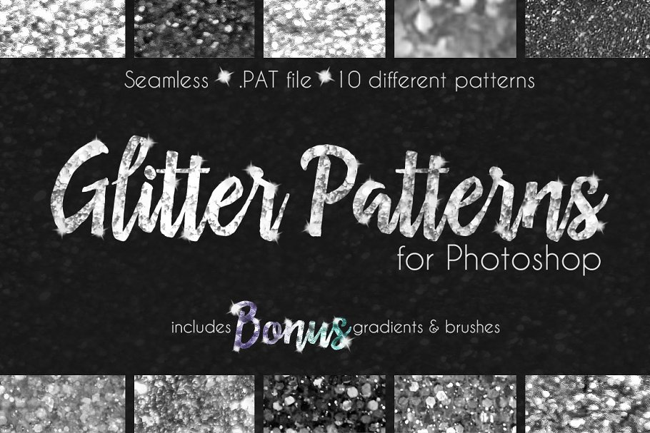 Glitter Texture Patterns Photoshop Photoshop Add Ons Creative Market