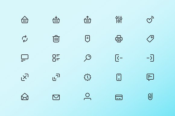 #1 E-Commerce icons in Icons - product preview 1