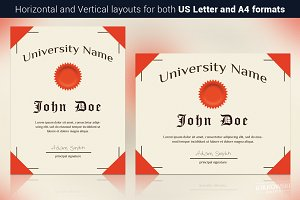 Old Style Diploma Template