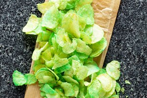 potato chips with wasabi
