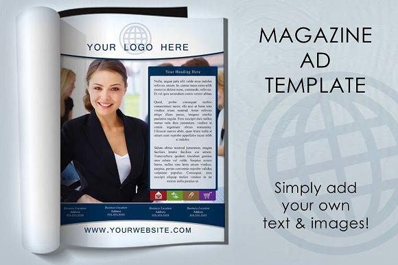 magazine ad template magazine templates creative market