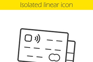 Credit cards linear icon. Vector