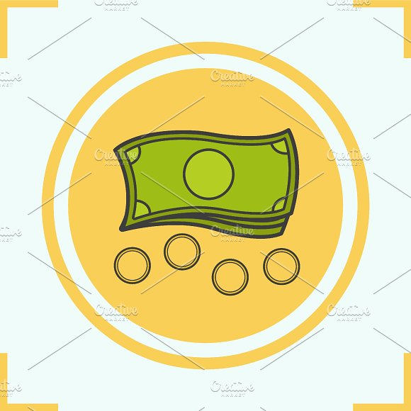 Money color icon. Vector - Icons