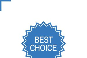 Best choice sticker icon. Vector