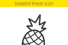 Pineapple linear icon. Vector