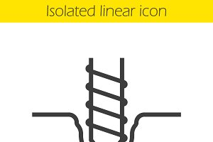 Drilling linear icon. Vector
