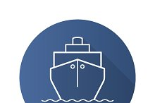 Cruise ship icon. Vector