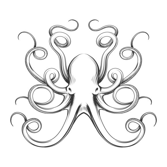 Octopus tattoo Photos, Graphics, Fonts, Themes, Templates ~ Creative ...