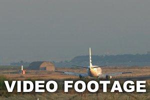 Plane on the landing strip