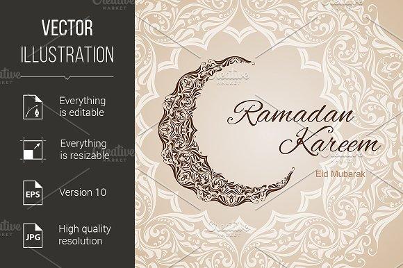 Ramadan Kareem greeting card in Graphics