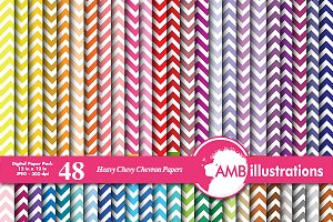 48 chevron rainbow papers AMB-530
