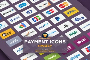 PAYMENT / CREDIT CARD VECTOR ICONS