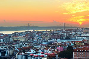 Lisbon overlooking, Portugal