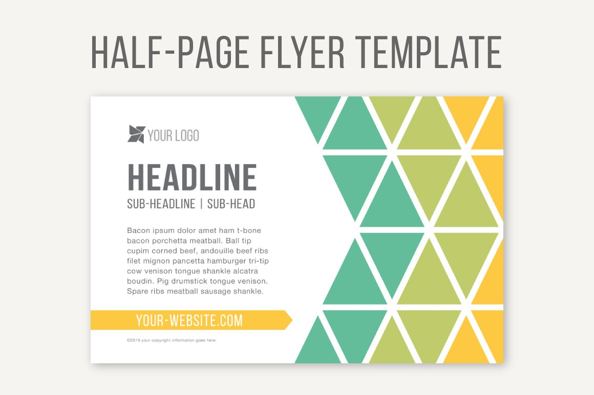 Half page flyer template templates creative market for Half page flyer template free