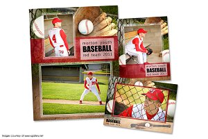 Baseball Memory Mate Template Pack A