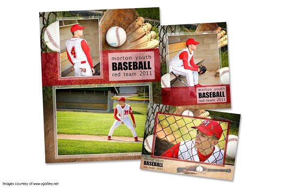 Baseball Memory Mate Template Pack A