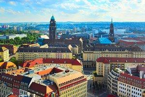 Dresden skyline, Germany
