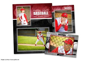 Baseball Memory Mate Template Pack B