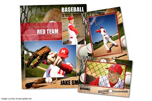 Baseball Memory Mate Template Pack C