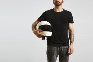 Motorbike t-shirt mockups