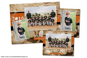 Baseball Memory Mate Template Pack D