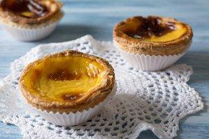 Portuguese egg tart pastry.