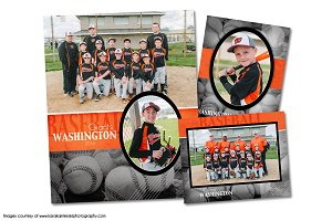 Baseball Memory Mate Template Pack F