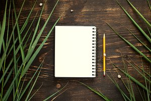 Open blank notebook