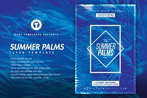 SUMMER PALMS Flyer template