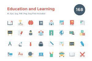 168 Flat Education and Learning Icon