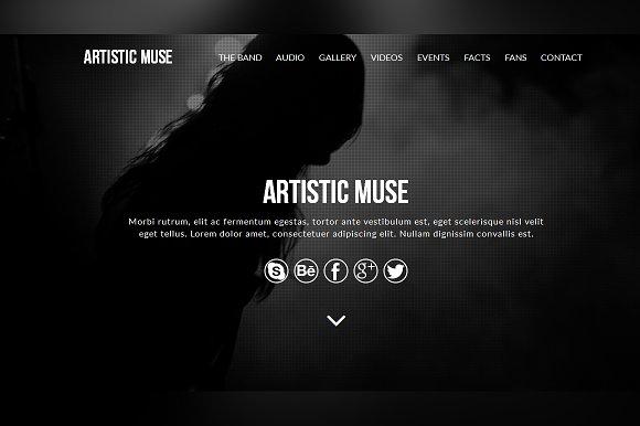Artistic Muse Template Website Templates Creative Market