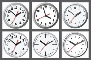 Wall mounted digital clock. Vector i