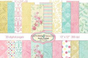 Pretty Pastels 20: Mega  Paper Pack
