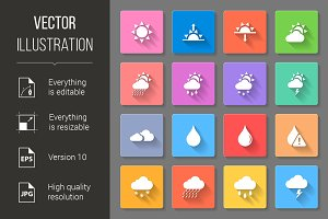 colorful weather icons set