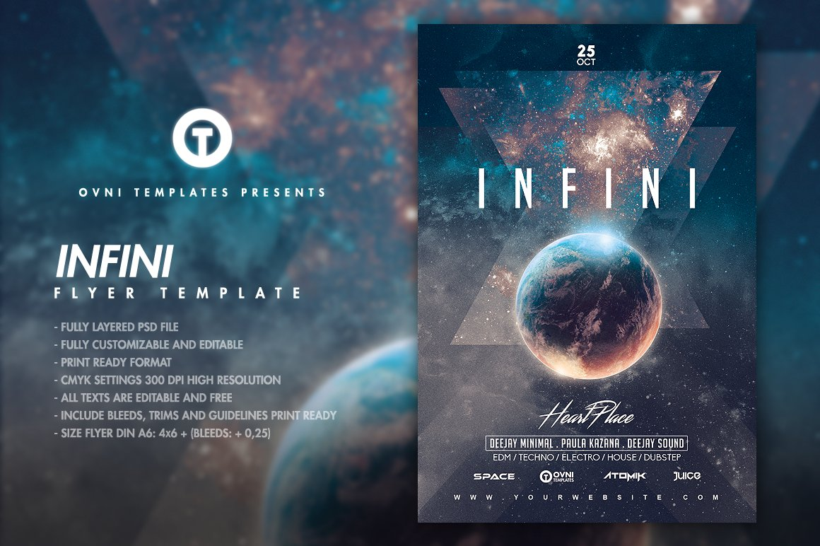 INFINI SPACE Flyer Template